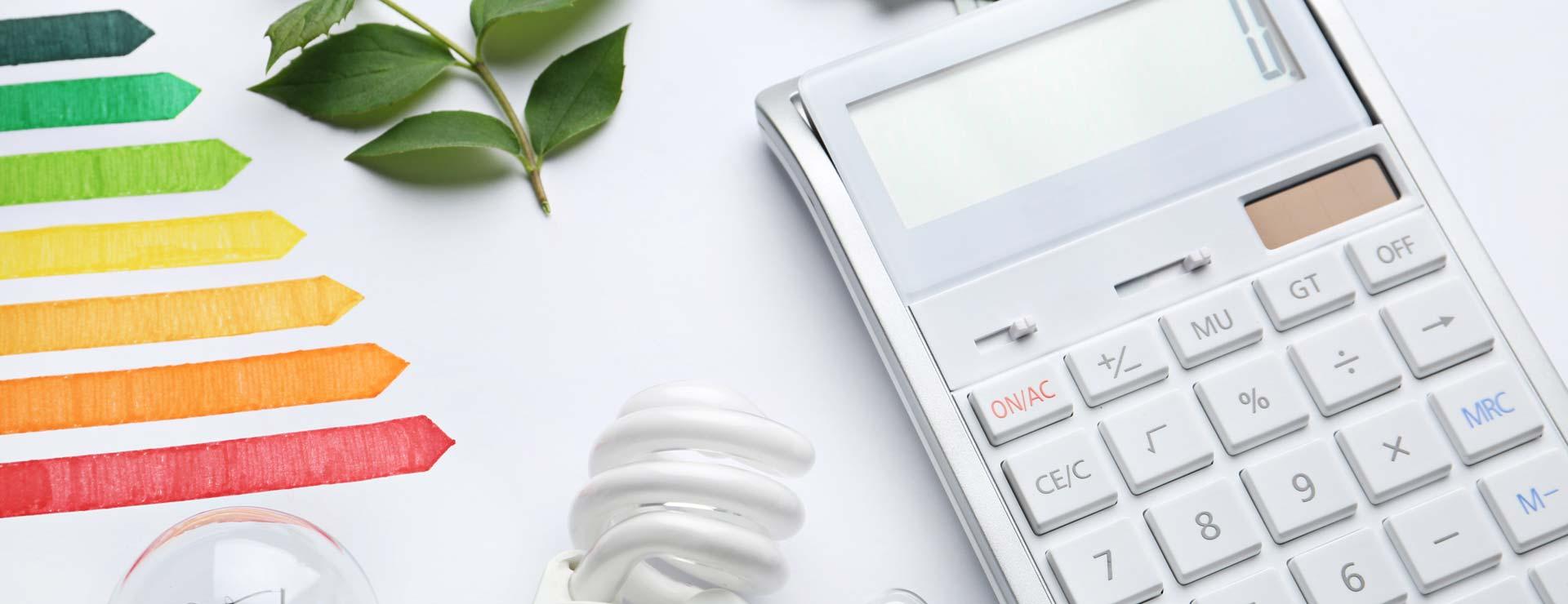 light bulb and calculator